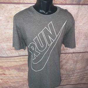 Nike run shirt men's xl gray